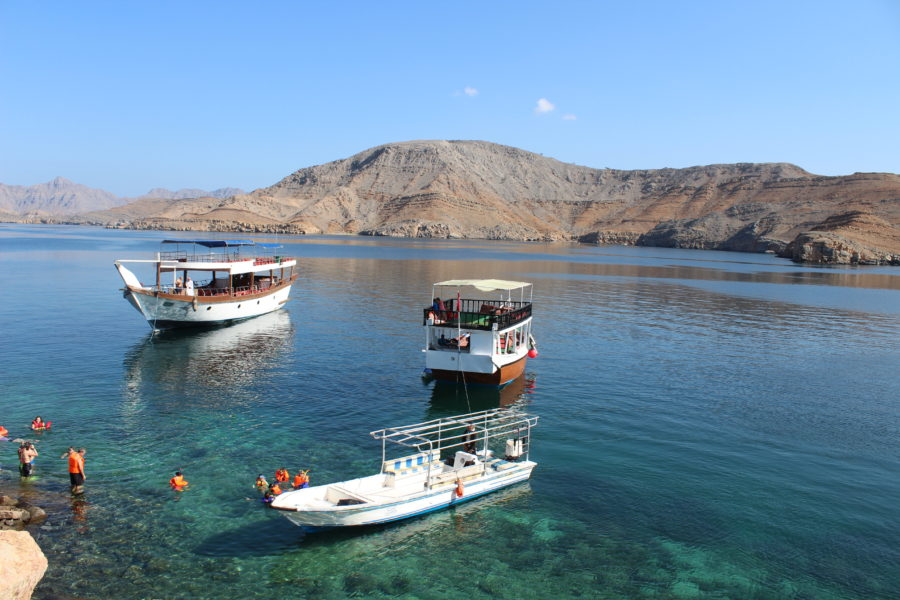 Schwimmen in Khasab