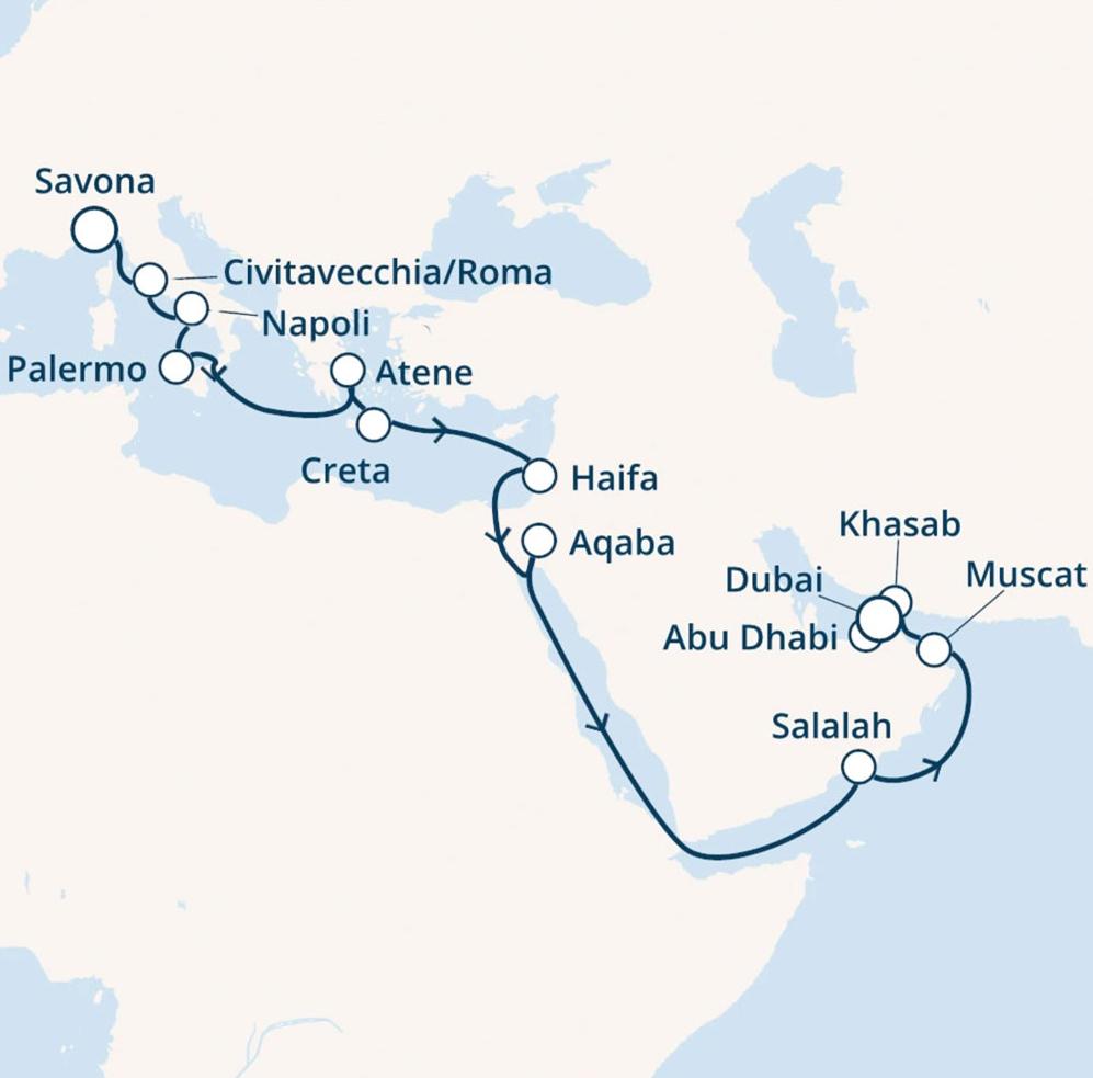 Kreuzfahrt Route